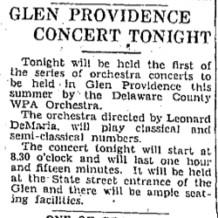 Concerts in Glen Providence Park
