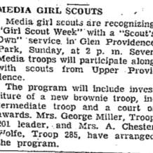 Scouts in Glen Providence Park!