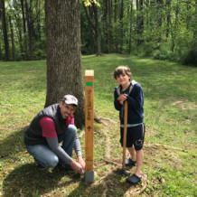 Glen Providence trail posts!