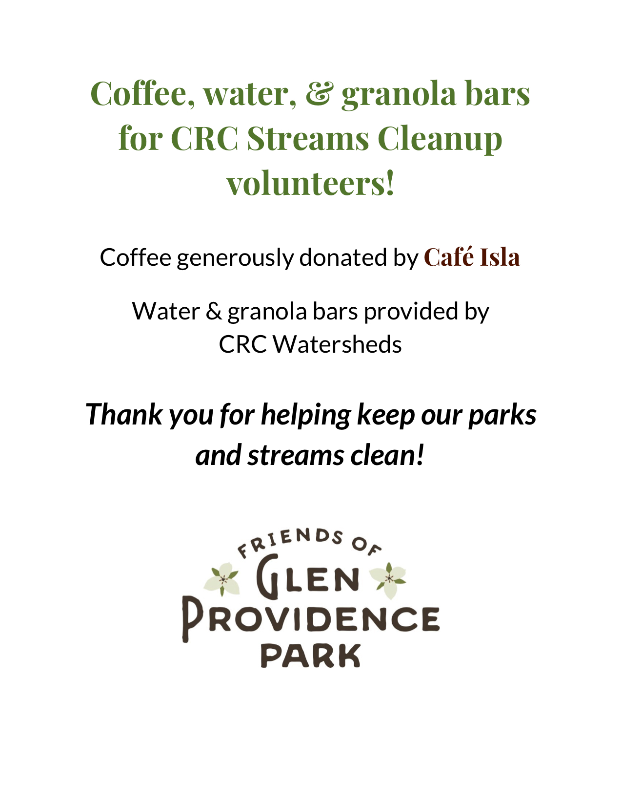 Donated-coffee-sign-CRC-4-13-2019