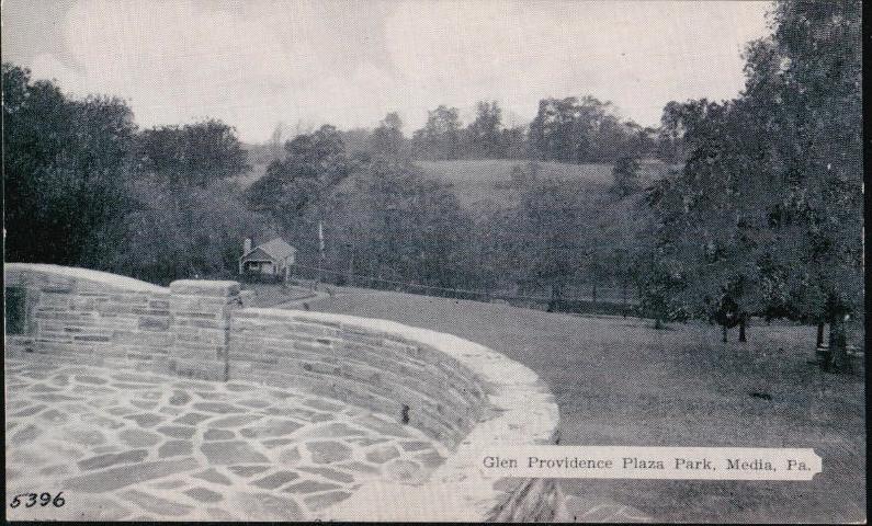 Glen Providence Plaza 1930's or 1940's postcard