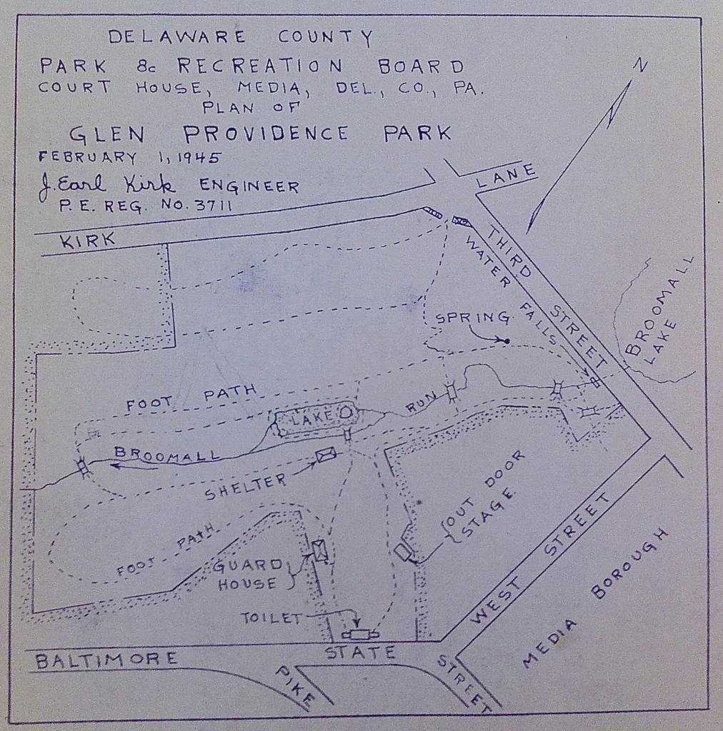 1945 Plan of Glen Providence Park