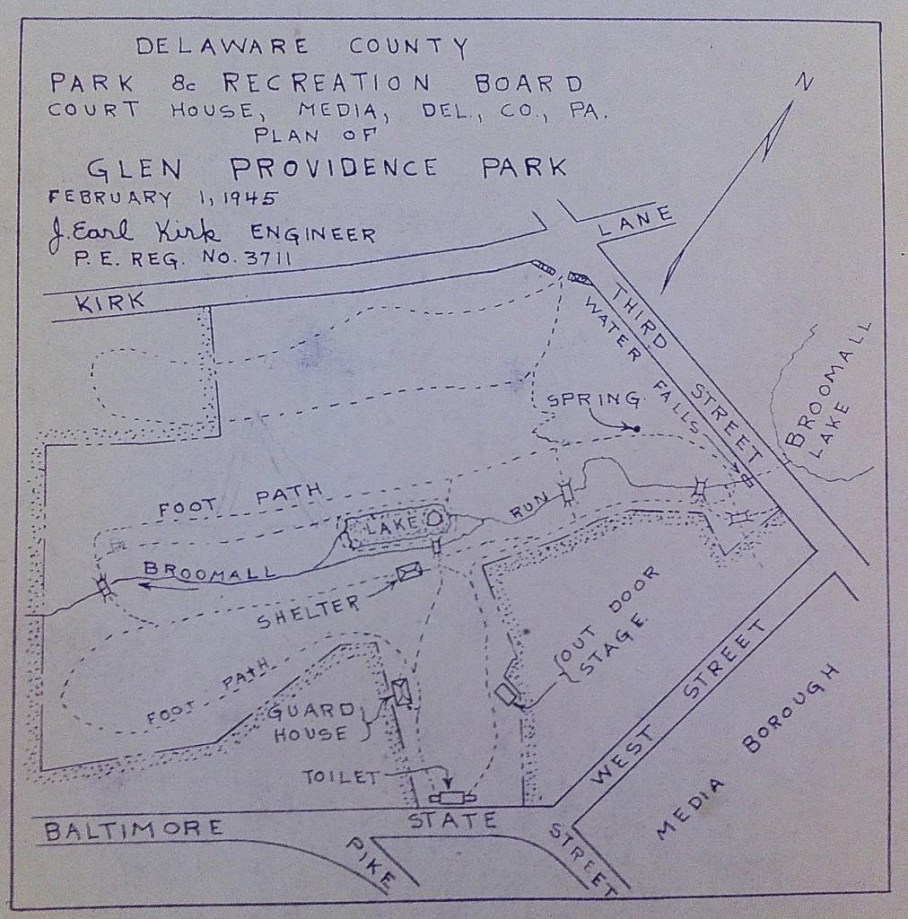 1945 Plan of Glen Providence Park