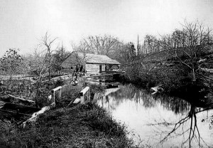 """Lumber Mill on Ridley Creek in 1864"" posted by Harvey Martin on ""I Grew Up In Media"" Facebook page - origin of photo unknown."