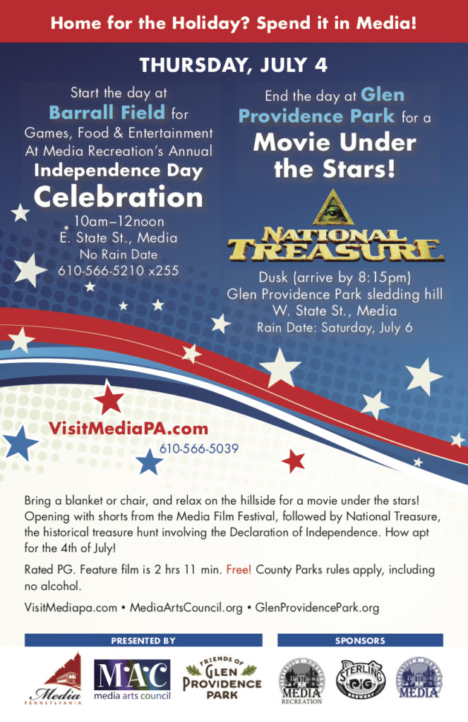 Movie Under the Stars on July 4th: National Treasure! @ Glen Providence Park - main entrance